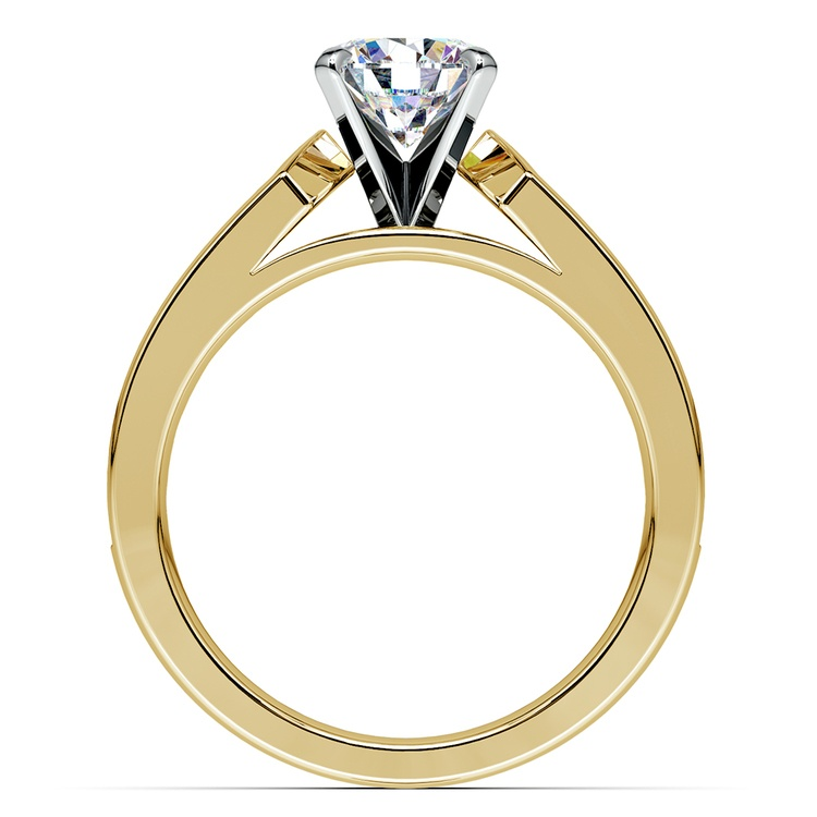 Channel Diamond Engagement Ring in Yellow Gold (1 ctw) | 02