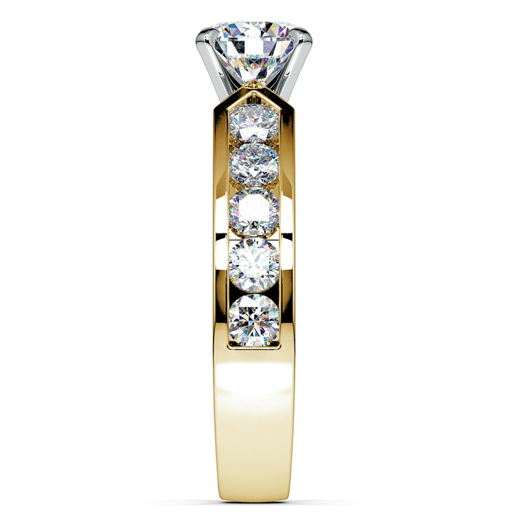 Channel Diamond Engagement Ring in Yellow Gold (1 ctw) | 03