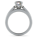 Channel Set Diamond Cathedral Bridal Set in Platinum   Thumbnail 02