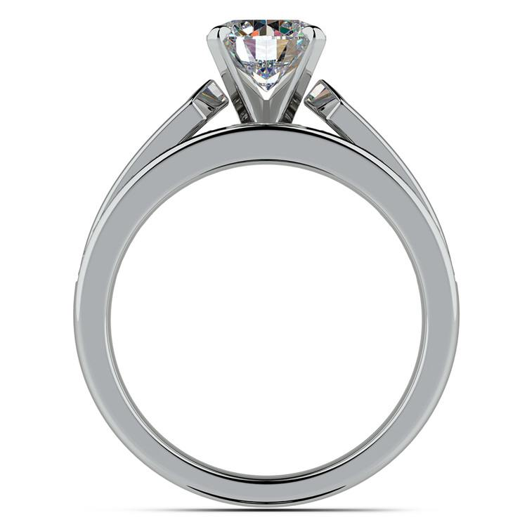 Channel Set Diamond Cathedral Bridal Set in White Gold | 02