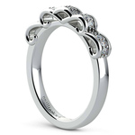 Cinderella Engagement Ring & Wedding Band Set In Platinum   Thumbnail 05