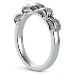 Cinderella Engagement Ring & Wedding Band Set In White Gold | Thumbnail 05