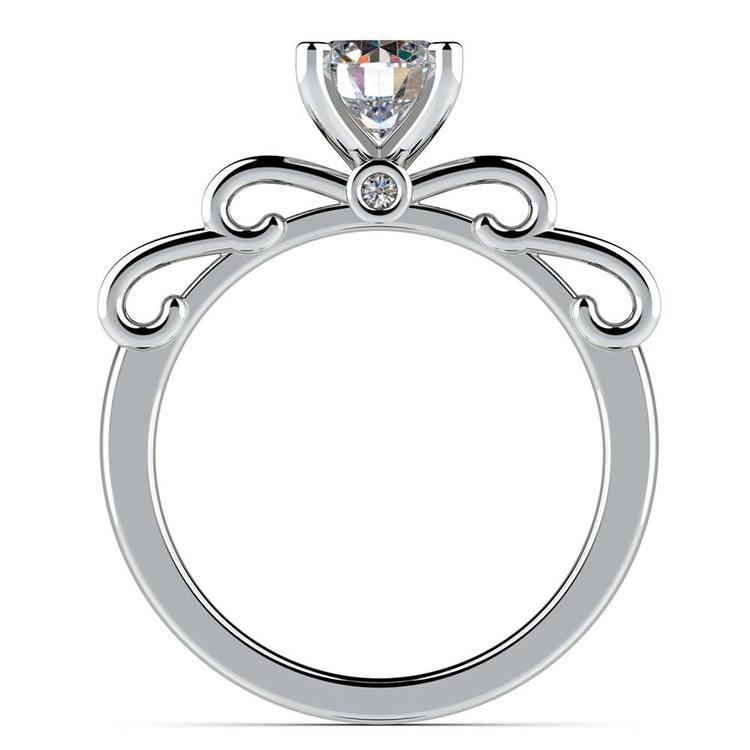 Cinderella Ribbon Solitaire Engagement Ring in Platinum | 02