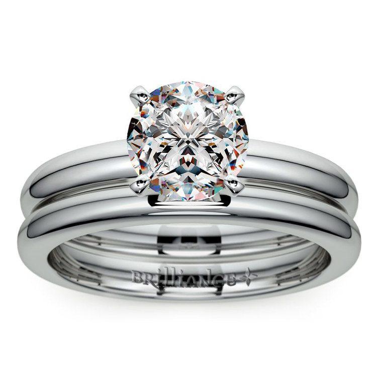 Classic Comfort Fit Diamond Bridal Set in Platinum | 01