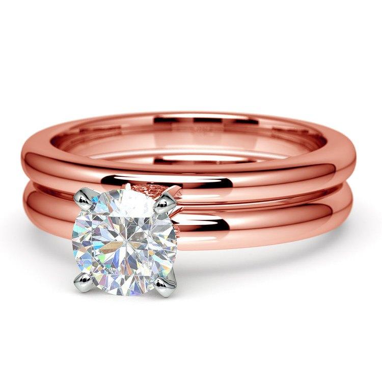 Classic Comfort Fit Diamond Bridal Set in Rose Gold | 04