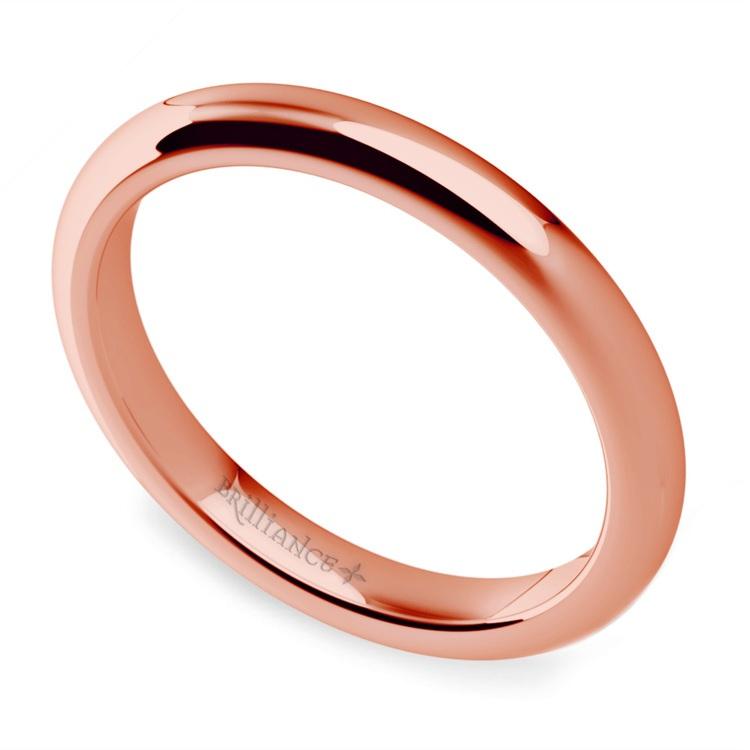 Classic Comfort Fit Diamond Bridal Set in Rose Gold | 05