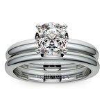 Classic Comfort Fit Diamond Bridal Set in White Gold   Thumbnail 01