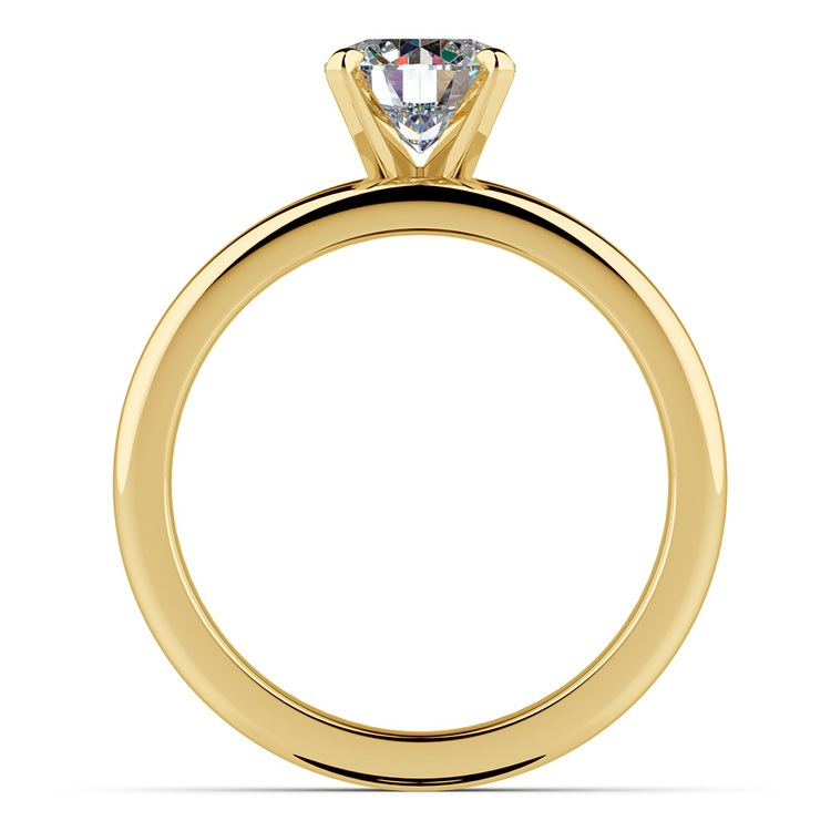 Classic Comfort Fit Diamond Bridal Set in Yellow Gold   02