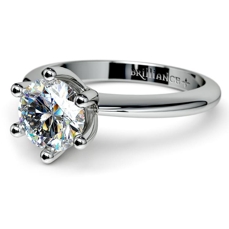 Classic Six Prong Solitaire Engagement Ring in Platinum | 04