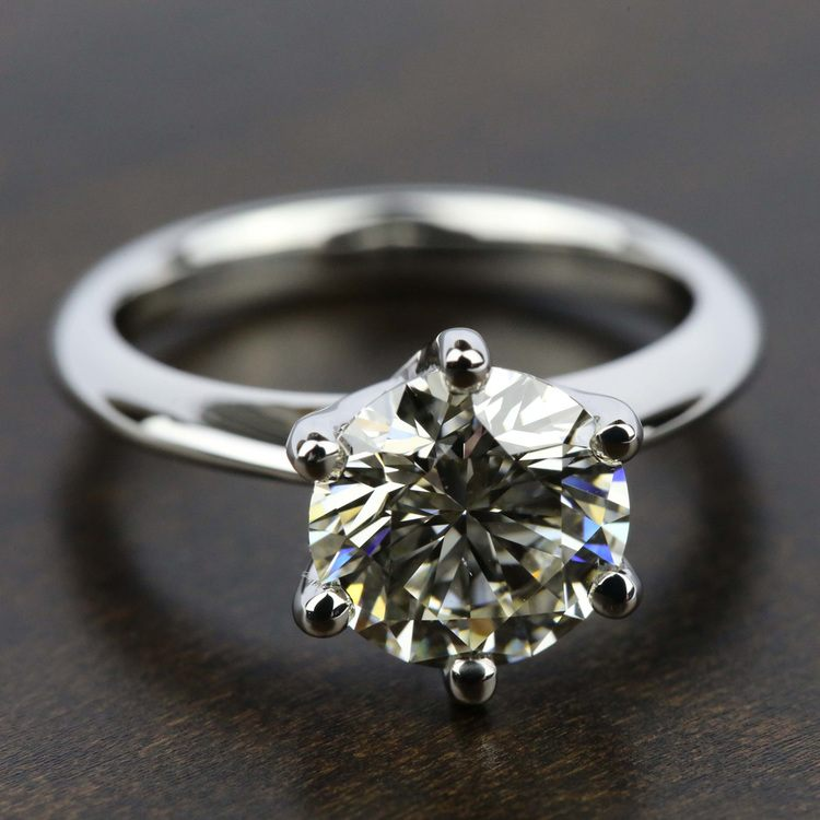 Classic Six Prong Solitaire Engagement Ring in Platinum | 05