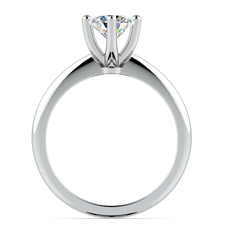 Classic Six Prong Solitaire Engagement Ring in White Gold | 02