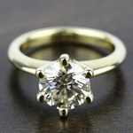 Classic Six Prong Solitaire Engagement Ring in Yellow Gold | Thumbnail 05