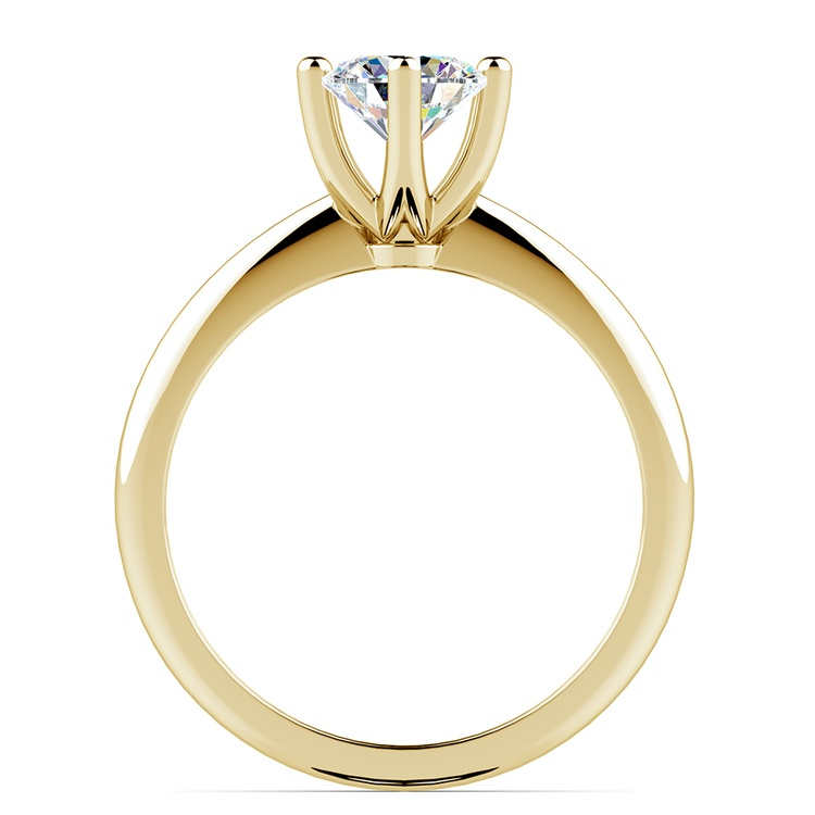 Classic Six Prong Solitaire Engagement Ring in Yellow Gold | 02