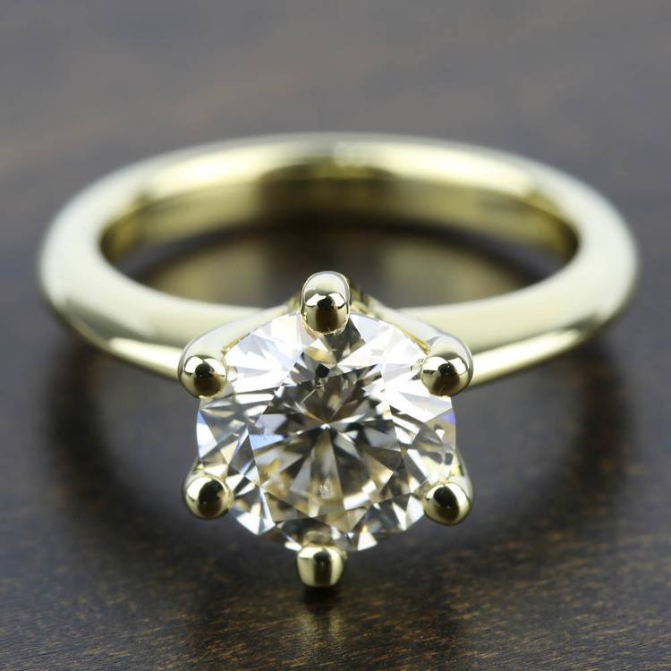 Classic Six Prong Solitaire Engagement Ring in Yellow Gold | 05