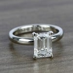 Classic Solitaire Engagement Ring in White Gold | Thumbnail 05