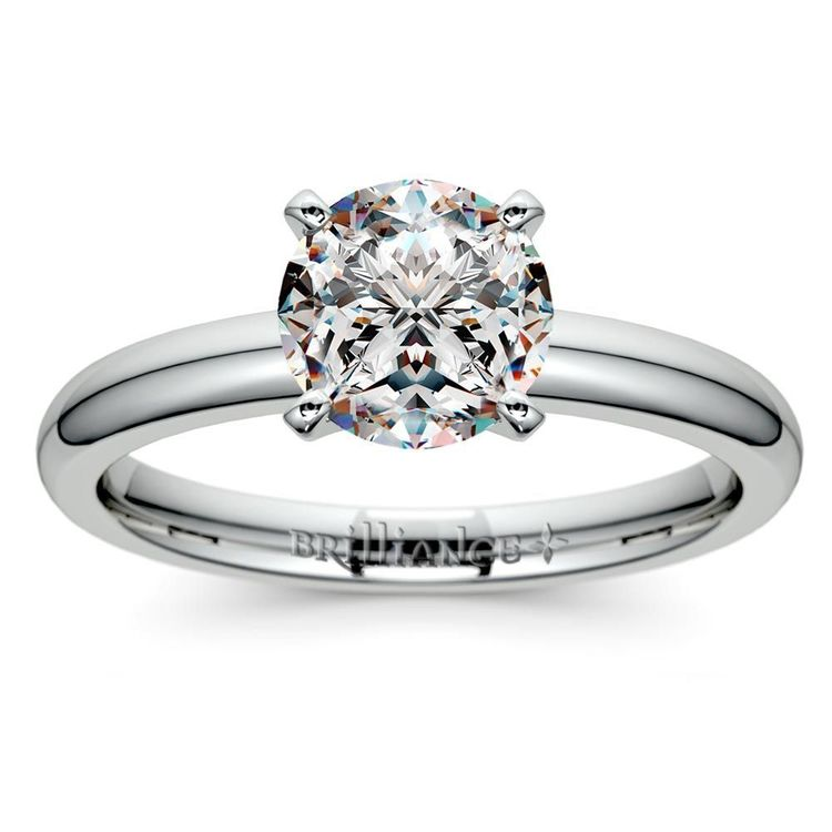 Classic Solitaire Engagement Ring in White Gold | 01