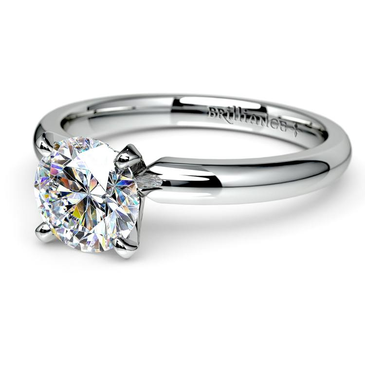 Classic Solitaire Engagement Ring in White Gold | 04