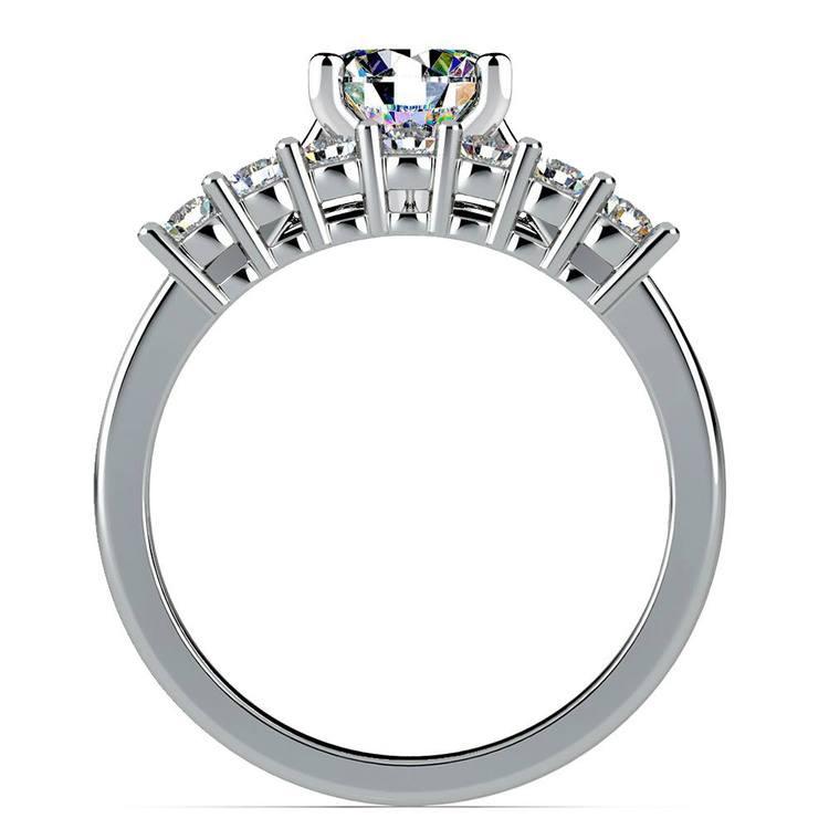 Classic Solitaire & Seven Diamond Bridal Set in Platinum   02