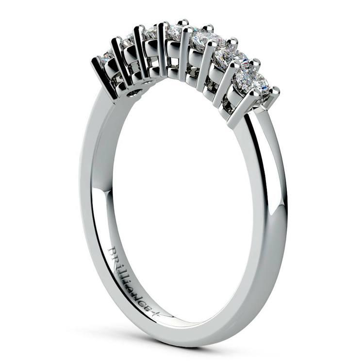 Classic Solitaire & Seven Diamond Bridal Set in Platinum   05