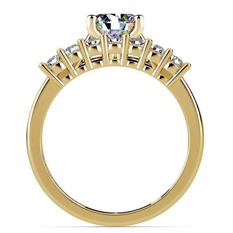Classic Solitaire & Seven Diamond Bridal Set in Yellow Gold | 02