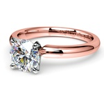 Comfort-Fit Solitaire Engagement Ring in Rose Gold (2.5mm)  | Thumbnail 04