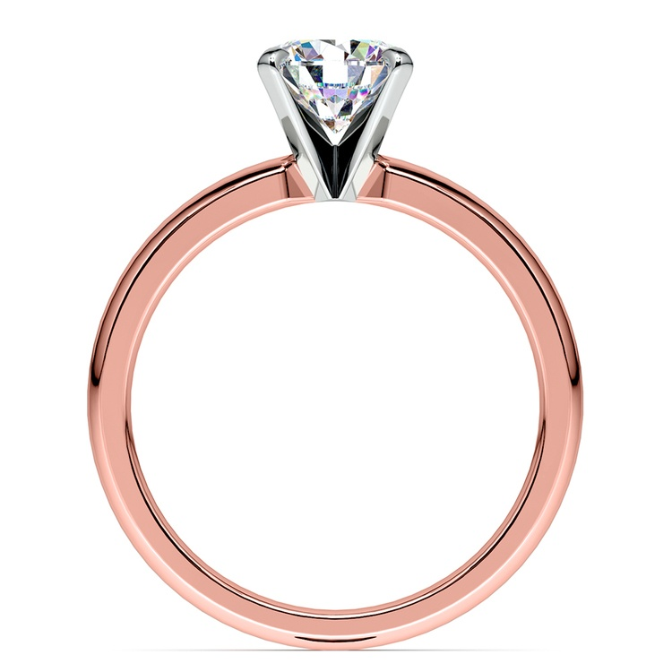 Comfort-Fit Solitaire Engagement Ring in Rose Gold (2.5mm)  | 02