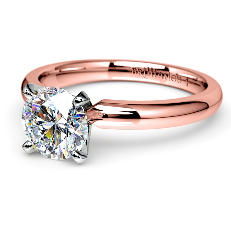 Comfort-Fit Solitaire Engagement Ring in Rose Gold (2.5mm)  | 04