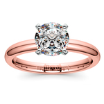 Comfort-Fit Solitaire Engagement Ring in Rose Gold (2mm) | Thumbnail 01