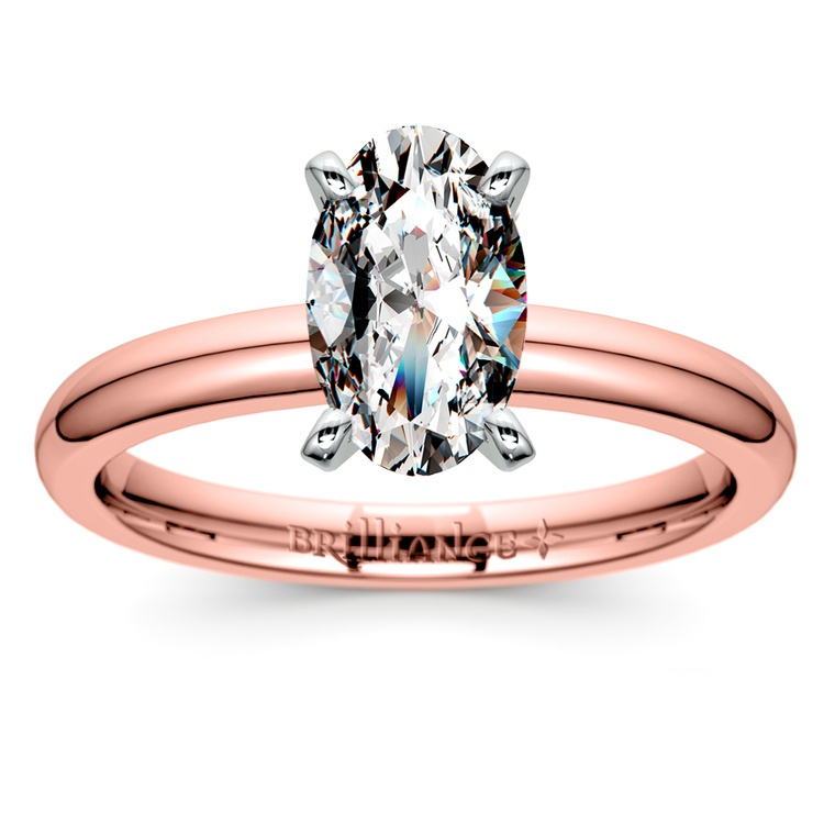 Comfort-Fit Solitaire Engagement Ring in Rose Gold (2mm) | 01