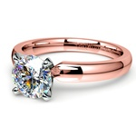 Comfort-Fit Solitaire Engagement Ring in Rose Gold (3mm)  | Thumbnail 04