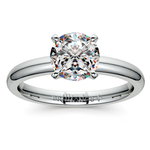 Comfort-Fit Solitaire Engagement Ring in White Gold (2.5mm)  | Thumbnail 01