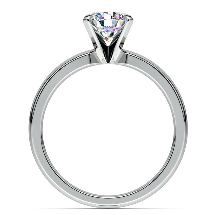 Comfort-Fit Solitaire Engagement Ring in White Gold (3mm)  | 02