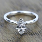 Comfort-Fit Solitaire Engagement Ring in Palladium (2.5mm)  | Thumbnail 05