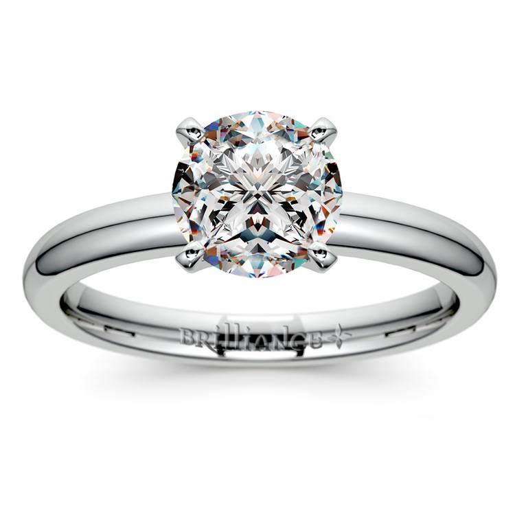 Comfort-Fit Solitaire Engagement Ring in Palladium (2.5mm)  | 01