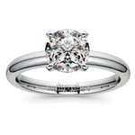 Comfort-Fit Solitaire Engagement Ring in Palladium (2mm)  | Thumbnail 01