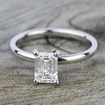 Comfort-Fit Solitaire Engagement Ring in Palladium (2mm)  | Thumbnail 05