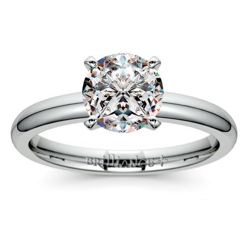 comfort fit solitaire engagement ring in palladium 2mm - Palladium Wedding Rings