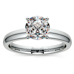 Comfort-Fit Solitaire Engagement Ring in Palladium (3mm)  | Thumbnail 01