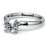 Comfort-Fit Solitaire Engagement Ring in Palladium (3mm)  | Thumbnail 04