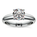 Comfort-Fit Solitaire Engagement Ring in Palladium (4mm) | Thumbnail 01