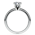 Comfort-Fit Solitaire Engagement Ring in Palladium (4mm) | Thumbnail 02