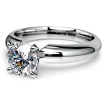 Comfort-Fit Solitaire Engagement Ring in Palladium (4mm) | Thumbnail 04