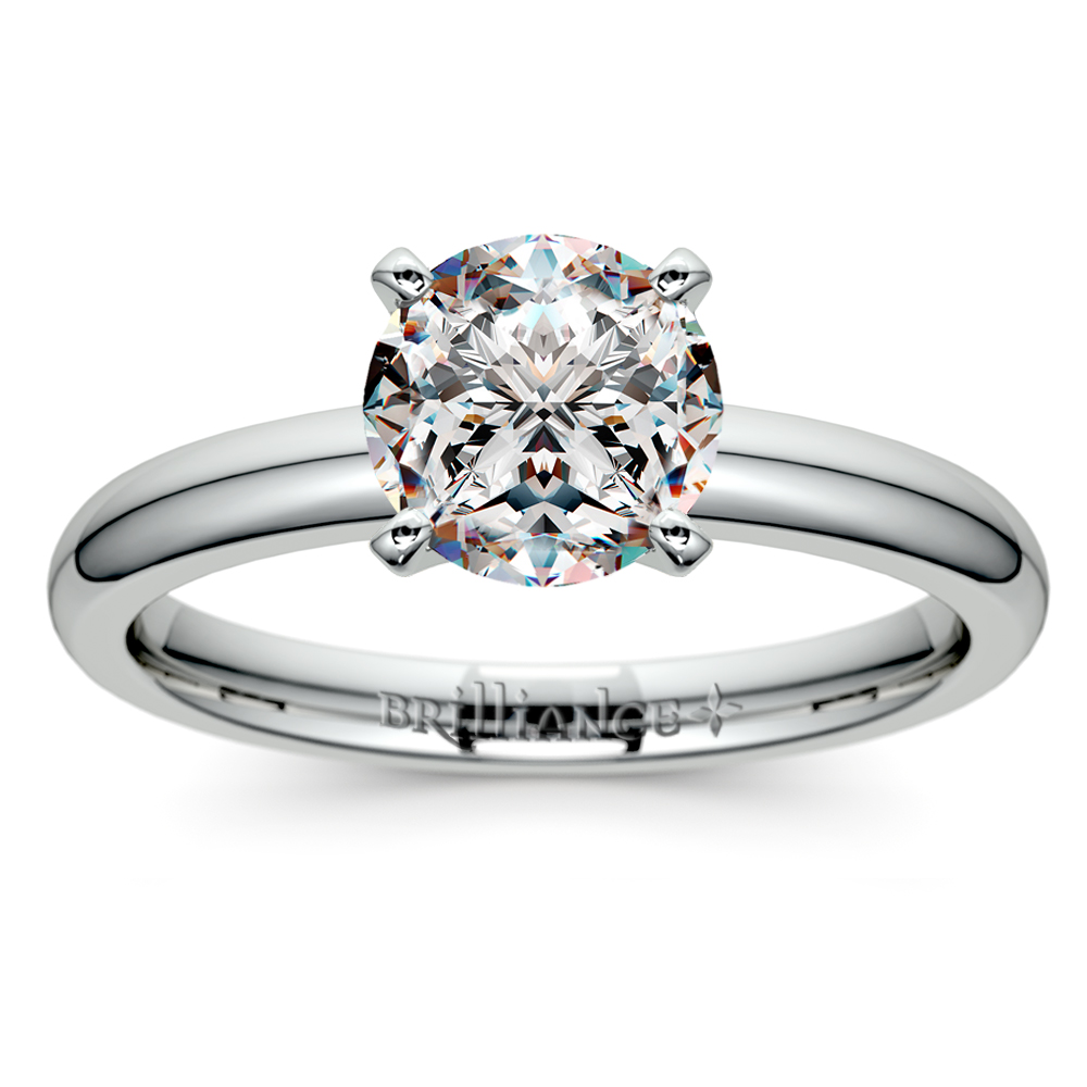 Two Platinum: Comfort-Fit Solitaire Engagement Ring In Platinum (2mm