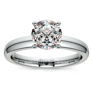 Comfort-Fit Solitaire Engagement Ring in Platinum (3mm)