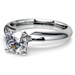 Comfort-Fit Solitaire Engagement Ring in Platinum (4mm)  | Thumbnail 04