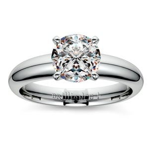 Comfort-Fit Solitaire Engagement Ring in Platinum (4mm)