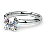 Comfort-Fit Solitaire Engagement Ring in White Gold (2mm) | Thumbnail 04