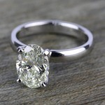 Comfort-Fit Solitaire Engagement Ring in White Gold (4mm)  | Thumbnail 05