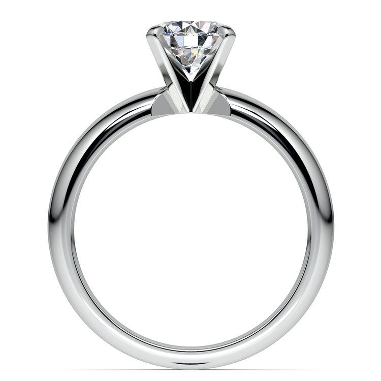 Comfort-Fit Solitaire Engagement Ring in White Gold (4mm)  | 02