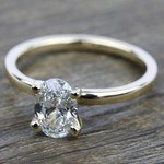 Comfort-Fit Solitaire Engagement Ring in Yellow Gold (2.5mm)  | Thumbnail 05